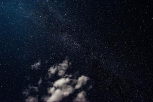 Sternenhimmel, Wolken, Nacht, Sternenklare Nacht,