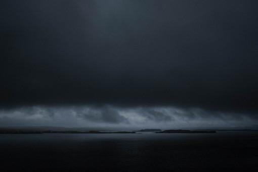 Skye, Isle of Skye, Wolken, Inseln, dunkler Himmel, Regenwolken