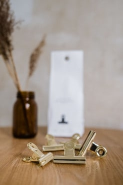 Monograph Clips 50mm in gold