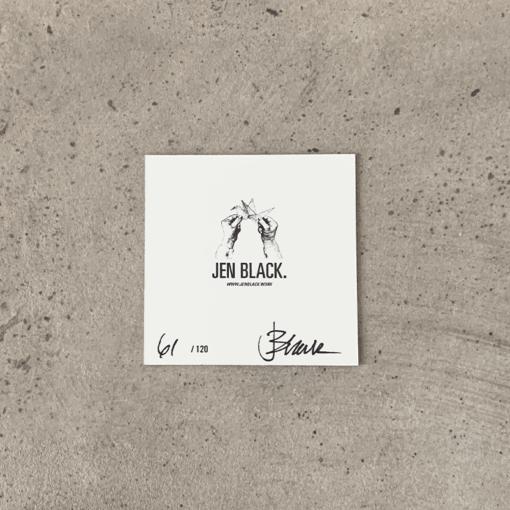 Limited Edition Print von Jen Black, Rückseite